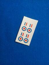 (Tr116) DINKY TOYS 734/735/736/737 decalcomanie transfer RAF ROUNDELS stripes