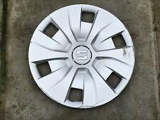 "SEAT IBIZA 15"" WHEEL TRIM X 1 HUB CAP GENUINE 6J0601147E CLIP ON TYPE"