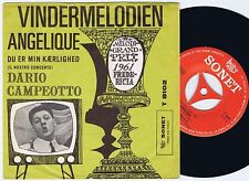 DARIO CAMPEOTTO Angelique Danish 45PS 1961 Eurovision