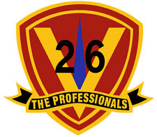 26th Marines The Professionals USMC 3.5 inch tall decal