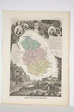 carte illustrée département Haute-Marne par LEVASSEUR vers 1860 Géographie