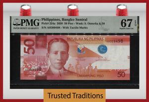TT PK 224a 2020 PHILIPPINES 50 PISO PMG 67 EPQ SUPERB GEM UNCIRCULATED