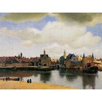 JOHANNES VERMEER VIEW OF DELFT OLD MASTER ART PAINTING PRINT 12x16 inch 30x40cm