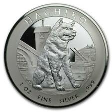 2016 Hachicko Akita Dog 1 oz Silver Proof Dollar with COA