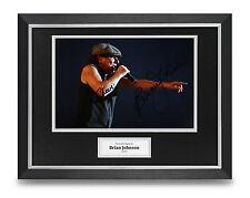 Brian Johnson Signed Photo Framed 16x12 AC/DC Autograph Memorabilia Display +COA