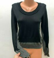 CREA CONCEPT size S Knitted Top Blouse Jumper Black Grey maybe Wool