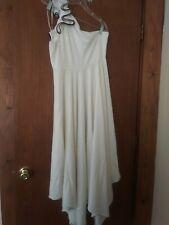 Pre-Owned Halston Cream -Ivory, One Shoulder Dress, sz 12