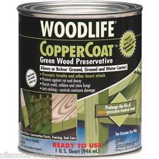 6 Qt Transparent Green Wolman Woodlife Coppercoat Green Wood Preservative 1904A