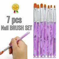 Hot 7 Sizes Manicure Acrylic Nail Art Tips Sable Brush Painting Tool Set