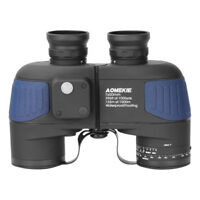 7X50 Military Binoculars BAK4 Prism Telescope Waterproof W/ Rangefinder Compass