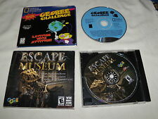 Escape the Museum (PC, 2008) & Geobee Challenge (PC, 1997) Progams