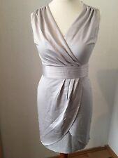 Kleid Gr. 38 M Grau H&M Beige Minikleid Abendkleid Elegant Business Neu Etikett