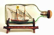 Folk Art 18th Century Russian Gunboat Ship in a Bottle