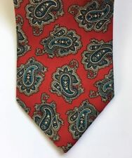 Hand Sewn by Fraser Thomson for Nordstrom Classic Red Paisley Men's Neck Tie