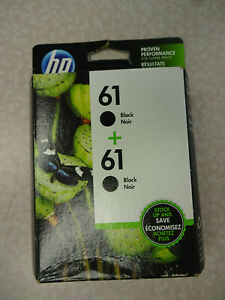 NEW GENUINE HP 61 Twin-Pack Black Ink Cartridges (CZ073FN) EXP 09/2021 or later
