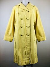 Vintage 1960s La Sport Boyd's Yellow MOD Tree Print Swing Coat Jacket Sz M/L