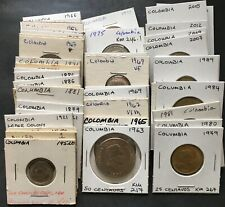 Colombia Coin Collection World Foreign Lot Colombian Coins