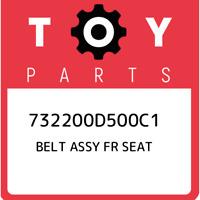 732200D500C1 Toyota Belt assy fr seat 732200D500C1, New Genuine OEM Part