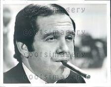 1972 Headshot Actor Alan King Smoking Cigar  Press Photo