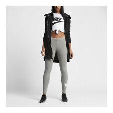 Nike Leggings Woman Grey Club Logo 2 Cotton Blend Stretch Art 815997 063 L