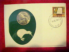 1968 #118 99 COMPANY FIRST DAY FIRST ISSUED NEW ZEALAND 20C KIWI BIRD WITH SPRIG