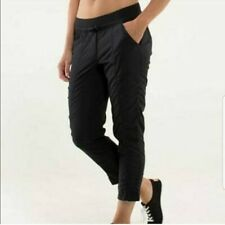 lululemon Street To Studio Pant *unlined Size 6 CAN (10 AUS) VGUC RRP $119 Black
