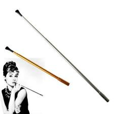 Vintage Lady Extra Long Stylish metal pipe cigarette holder can Telescopic