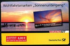 Bund Markenheftchen 77 Wohlfahrt Sonnenuntergang Natur 2009 Ersttagsstempel