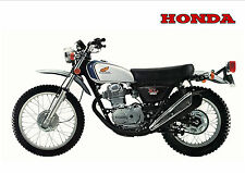 HONDA Poster Classic XL350 Motosport 1972 1973 1974 1975 Suitable to Frame