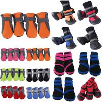 4Pcs/set Dog Boots Shoes Anti Slip Puppy Waterproof Rain Pet Small Cat Pet Sock