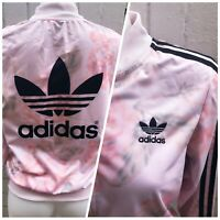 Adidas Originals Track Top Size 8 Ladies Pink Jacket Women's Casual