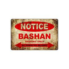 BASHAN Motorcycles Parking Sign Vintage Retro Metal Decor Art Shop Man Cave Bar