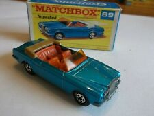 Matchbox Superfast 69 Rolls Royce Silver Shadow - Mint in Excellent Box