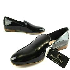 $120 NEW Zara MASSIMO DUTTI Womens 5 EUR 35 Black Patent Leather Loafers Slip-on