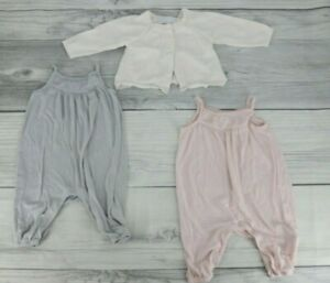 Old Navy Baby Girls One Piece Romper with Sweater Size 3-6 Months Pink Gray