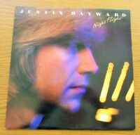 JUSTIN HAYWARD Night Flight 1980 UK VINYL LP + LYRIC PRINTED INNER MOODY BLUES