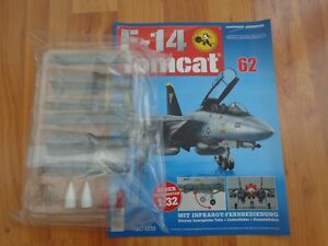 1/32 HACHETTE BUILD THE F-14 TOMCAT MODEL PLANE ISSUE 62 INC PART PICTURED