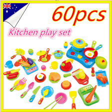 Stove Kids Pretend Role Play Toys Kitchen Set Dinner Food Cooking Accessories