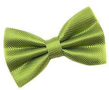 Cadeaux pour Hommes PreTied Réglable Homme Carreaux Carreaux Polyester Bow Tie Green