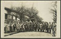 WW1 MILITARY LORRIE REGIMENT ARMY RPPC ANTIQUE PHOTO POSTCARD
