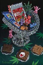 """Gummied Bears Cannabis, Edibles, Art Print on Aluminum panel 8"""" x 12"""""""