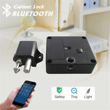 Waterproof Cabinet Lock Electronic Bluetooth Smart Hidden Safety Secure Black