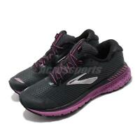 Brooks Adrenaline GTS 20 D Wide Black Purple Women Running Shoes 120296 1D