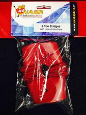 Nash Sports Hockey Goalie Toe Bridge with hardware! 2 Pack, Red, Leather Screws