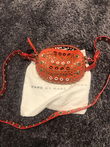 Marc Jacobs Orange Crossbody Bag, zipped, studded, very good condition