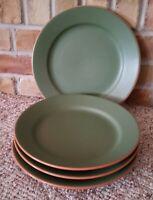 """Casa Verde WPS Terra Cotta Tableware 4 Green 11"""" Dinner Plates Portugal"""