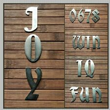 """Letters House Numbers Metal Sign 2"""" Wall Wording Garden Bar Kids Room Decoration"""