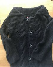 DIESEL LADIES CARDIGAN HEAVY KNITTED LONG BLACK  Size M