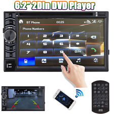 6.2'' TOUCHSCREEN Bluetooth CD DVD USB Radio Stereo Audio Double Din In-Dash Kit