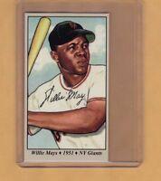 Willie Mays '51 New York Giants rookie season Tobacco Road series #16